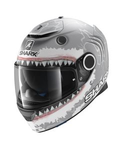 Shark Spartan Lorenzo Helmet Silver/White/Anthracite