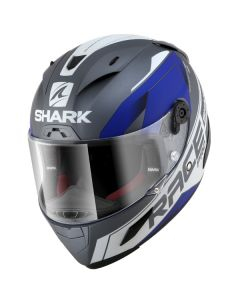 Shark Race-R Pro Sauer Helmet Anthracite/White/Blue