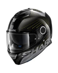 Shark Spartan Carbon Full Face Helmet Cliff  Gray/Yellow