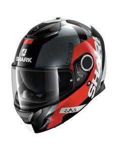 Shark Spartan Full Face Helmet APICS  Black/Red/Gray