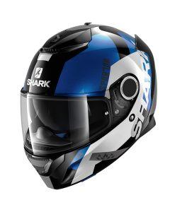 Shark Spartan Full Face Helmet APICS  Black/White/Blue