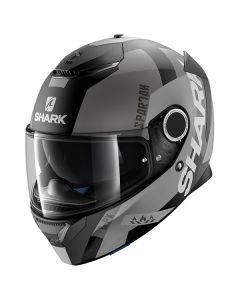 Shark Spartan Helmet APICS Matt Black/Silver/Gray