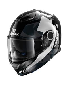 Shark Spartan Full Face Helmet Droze  Black/White/Gray