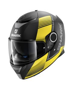Shark Spartan Helmet Arguan Matt Black/Yellow/Gray
