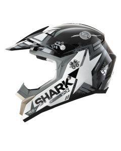 Shark SX2 Offroad Helmet Wacken  Black/White/Gray