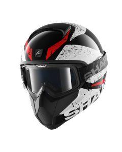 Shark Vancore Full Face Helmet Braco  Black/White/Red
