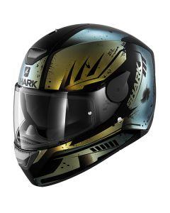 Shark D-Skwal Helmet Dharkov Matt Black/Green/Metallic