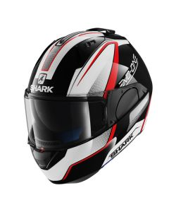 Shark Evo One Full Face Helmet Astor  Black/White/Red