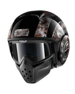 Shark Drak Adventure & Dual Sport Helmet Dogtag  Black/Hi-Viz/Black