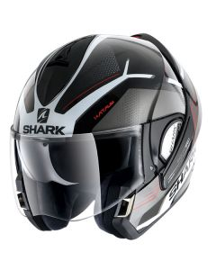 Shark Evoline Flip Up Helmet Hataum  Black/White/Red