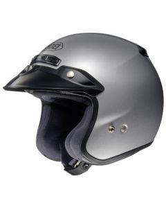Shoei RJ Open Face Helmet Platinum-R  Silver
