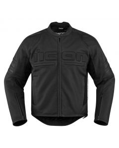ICON Motorhead 2 Leather Relaxed Fit Jacket Black
