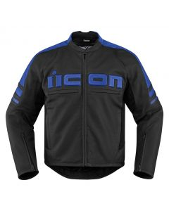 ICON Motorhead 2 Leather Relaxed Fit Jacket Black / Blue