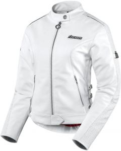 ICON Hella Ladies Leather Sport Fit Jacket White