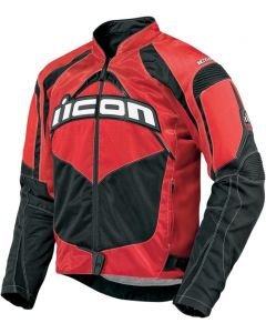 ICON Contra Fighter Mesh Sport Fit Jacket Red