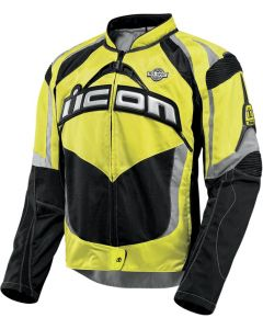 ICON Contra Fighter Mesh Sport Fit Jacket Military Spec Yellow