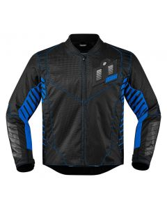 ICON Wireform Textile Sport Fit Jacket Black / Blue / Gray Small Only