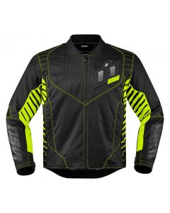 ICON Wireform Textile Sport Fit Jacket Black / Lime / Gray