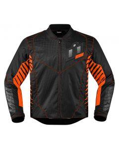 ICON Wireform Textile Sport Fit Jacket Black / Orange / Gray
