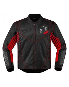 ICON Wireform Textile Sport Fit Jacket Black / Red / Gray