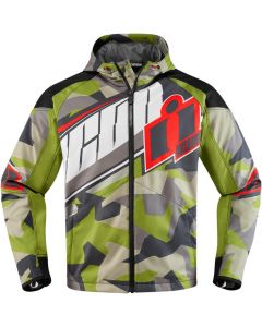ICON Merc Textile Relaxed Fit Jacket Green Camo