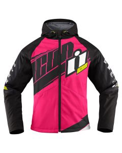 ICON Team Merc Ladies Textile Relaxed Fit Jacket Pink | Black