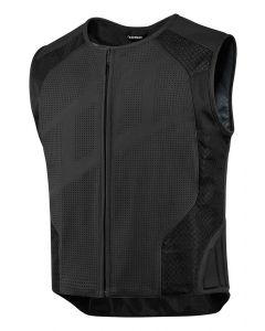 ICON Hypersport Prime™ Stripped Leather Vest Black