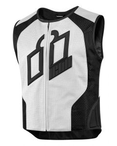 ICON Hypersport Prime™ Leather Vest White