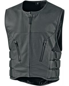 ICON Regulator D30™ Leather Stripped Vest Black L-XL