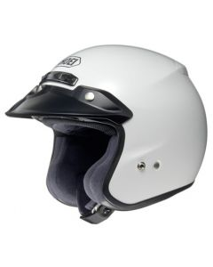 Shoei RJ Open Face Helmet Platinum-R  White