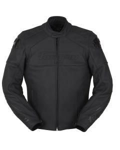 Furygan Dark Evo Mens Leather Long Sleeve Jacket Black
