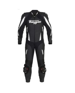 Furygan Dark Apex Leather One Piece Suit Black/White