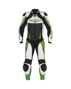 Furygan Full Apex Leather One Piece Suit Black/White/Green 36