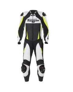 Furygan Full Apex Leather One Piece Suit White/Yellow Fluorescent 36