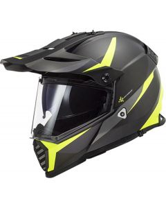 LS2 PIONEER EVO ROUTER BLACK H-V YELLOW
