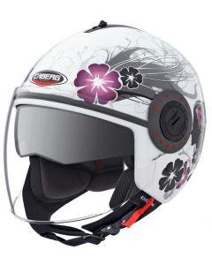 Caberg Riviera V2+ Hybrid Helmet Diva  White/Silver