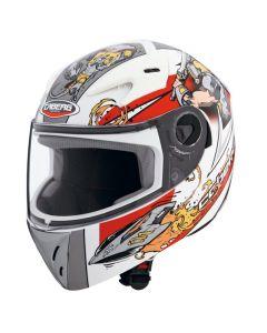 Caberg V-Kid Full Face Helmet   White/Red