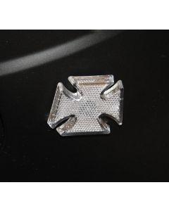 Maltese Cross Indicators Clear Lens Amber Bulb Screw Back Fit (Pair) Yg-U0070