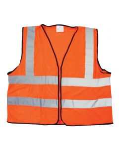 Fluoro Orange Reflective Bib-Vest