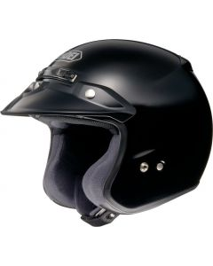 Shoei RJ Open Face Helmet Platinum-R  Black