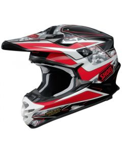 Shoei VFX-W Offroad Helmet Turmoil TC1  Red